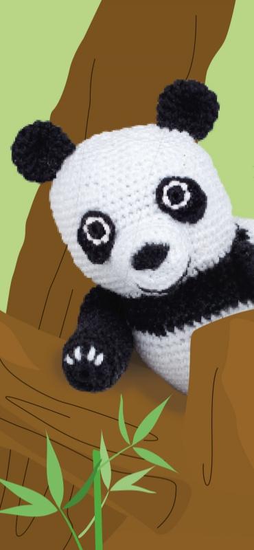 Pandabär - Häkelanleitung | Häkeltiere anleitungen kostenlos, Tier ... | 800x370